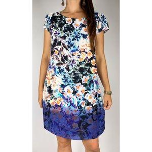 PORTMANS Multi Floral Print Shift Dress Size 16